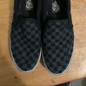 Vans checkerboard slip on size 9 1/2 men's